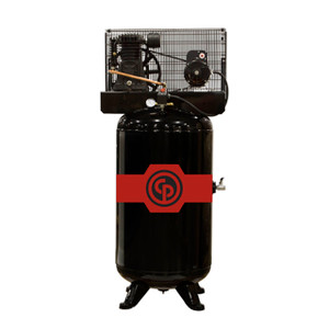 Chicago Pneumatic Stationary Two Stage 80 Gallon Air Compressor, 5 HP, Horizontal, 208-230V 1-Phase