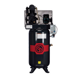 Chicago Pneumatic RCP-7581VS Stationary Two Stage 80 Gallon Air Compressor, 7.5 HP, Vertical, 208-230V 1-Phase