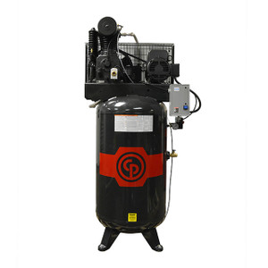 Chicago Pneumatic RCP-C7581V Stationary Two Stage Cast Iron 80 Gallon Full Featured Air Compressor, 7.5 HP, Vertical, 208-230V 1-Phase