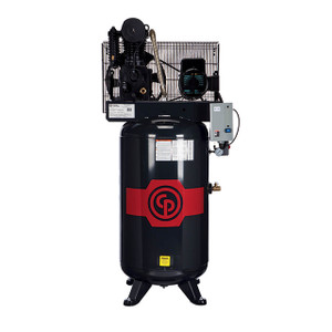 Chicago Pneumatic RCP-C581V Stationary Two Stage Cast Iron 80 Gallon Full Featured Air Compressor, 5 HP, Vertical, 208-230V 1-Phase