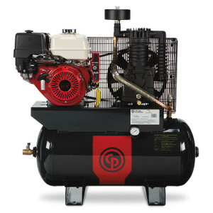 Chicago Pneumatic RCP-1330G Truck Mount Honda Gasoline Driven Two Stage 30 Gallon Air Compressor, 13 HP, Horizontal