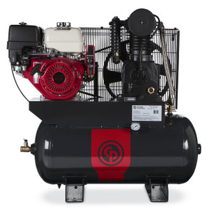 Chicago Pneumatic RCP-C1330G Truck Mount Honda Gasoline Driven Two Stage Cast Iron 30 Gallon Air Compressor, 13 HP, Horizontal