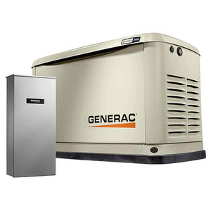 Generac 7228 Guardian Air-Cooled Home Backup Generator w/200 Amp Transfer Switch, Free Mobile Link, 18KW LP & 17KW NG