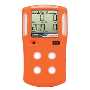 Gas Clip Technologies MGC Simple Plus Detector, 4 Gas (H2S, O2, CO & LEL) 3 Year Run Time