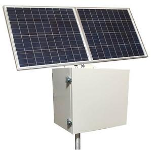 Tycon Systems RemotePro® 170W Solar, 12/24V 200Ah Batt, 20 A MPPT Controller Remote Power Solar System, Steel Enclosure