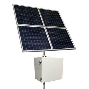 Tycon Systems RemotePro® 340W Solar, 12/24V 200Ah Batt, 20A MPPT Controller Remote Power Solar System, Steel Enclosure