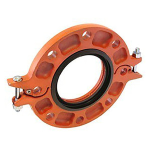 Anvil FIG 7012 Gruvlok® Flange w/Nitrile Gasket, Ductile Iron Ptd. Orange