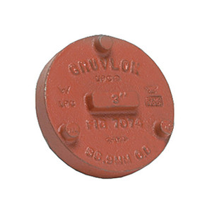 Anvil FIG 7074 Gruvlok® Ductile Iron 8 in. Pipe Cap Fitting, Grooved End, Ptd. Orange