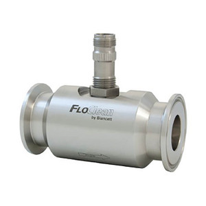 Badger Meter Blancett® B16N Series FloClean Tri-Clover End Sanitary Turbine Flow Meter w/Hub