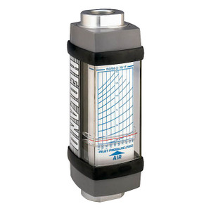 Badger Meter Hedland Variable Area Air & Compressed Gas Flow Meter, Aluminum, 1/4 in. Female NPT