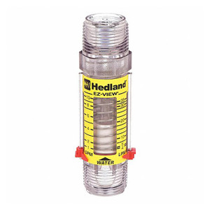 Badger Meter Hedland Variable Area EZ-View Water Flow Meter, Polysulfone Body & Fitting, 1 in. Male NPTF