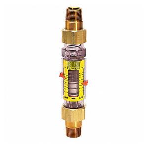 Badger Meter Hedland Variable Area EZ-View Water Flow Meter w/Flow-Alert , Radel Body, 3/4 in. Male NPTF Swivel Brass Fitting