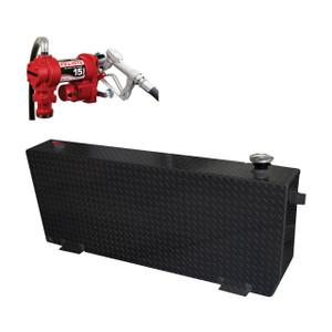 51 Gallon DOT Powder Coated Aluminum Rectangular Transfer Tank w/ Fill-Rite FR1210 Pump