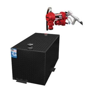 110 Gallon DOT Powder Coated Aluminum Rectangular Transfer Tank w/ Fill-Rite FR1210 Pump