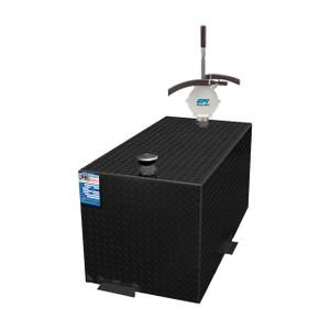 110 Gallon DOT Powder Coated Aluminum Rectangular Transfer Tank w/ GPI HP90 Pump
