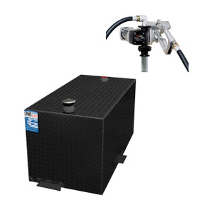 110 Gallon DOT Powder Coated Aluminum Rectangular Transfer Tank w/ Fuelworks 12V DC Pump