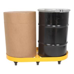 Vestil Double Drum Dolly w/Hard Rubber Casters