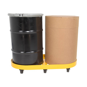 Vestil Double Drum Dolly w/Glass Filled Nylon Casters