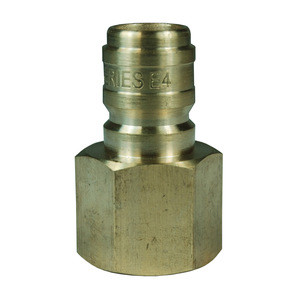 Dixon E-Series Hydraulic Brass Straight Through Interchange Female Plug