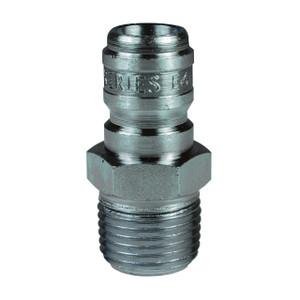 Dixon E-Series Hydraulic Steel Straight Through Interchange Male Plug