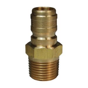 Dixon E-Series Hydraulic Brass Straight Through Interchange Male Plug