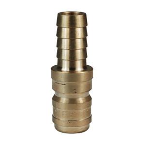 Dixon E-Series Hydraulic Brass Straight Through Interchange Hose Barb Plug