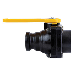 TerreMax Bolted Ball Valve, 100 PSI, 2 in. Full Port Flange x 2 in. Male Cam Adapter