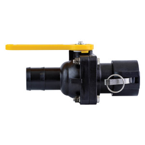 TerreMax Smart Connect Bolted Ball Valves, 100 PSI, Hose Barb x Female Cam Coupler