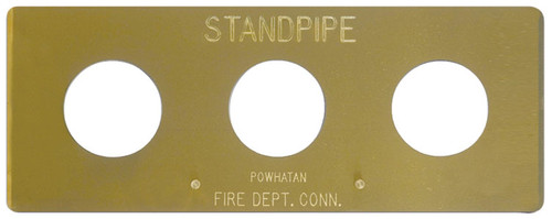 Dixon Polished Auto-Sprinkler Wall Plate For Concealed (Flush) Fire Department Connections