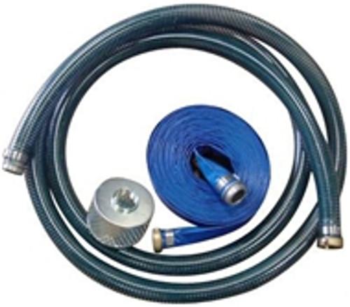 Kuriyama PVC Water Suction & Discharge Hose w/Strainer & Pin Lugs - 1 1/2 in.