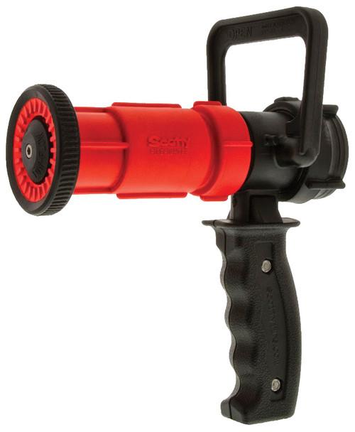 Dixon 1 1/2 in. NPSH Red Thermoplastic Ball Shutoff Nozzle 30 GPM