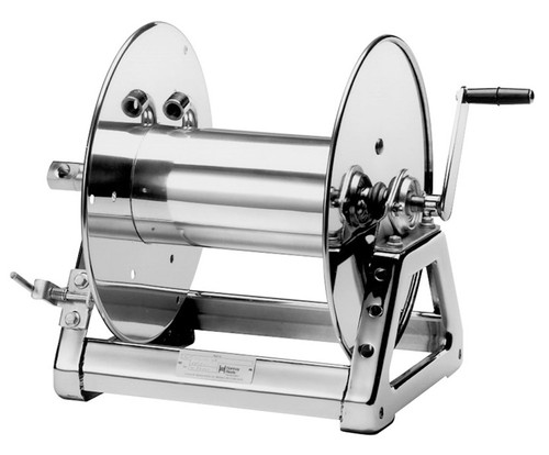 Hannay 1500 Series 1/2 in. x 375 ft. Stainless Steel Manual Rewind Reel SS1530-17-18