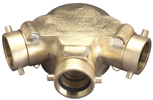 Dixon 2 1/2 in. NH (NST) x 6 in. NPT Auto-Sprinkler Triple Clapper Siamese Connection Bottom Outlet