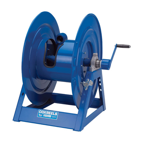 Coxreels 1185 Series Large Capacity Hand Crank Hose Reel - Reel Only - 1 1/2 in. x 100 ft. - 90 Deg