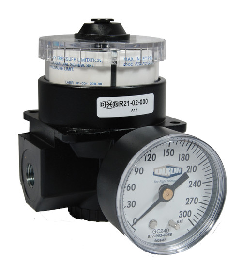 Dixon Wilkerson 1/4 in. R21 Dial Air Regulator With Gauge