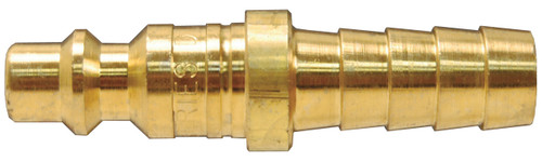 Dixon Air Chief Brass Industrial Quick-Connect Plug 3/8 in. Hose Barb x 1/4 in. Body
