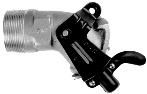 Syracuse Stamping Co. 2 in. Aluminum Short Handle Gate Faucet - 2 in. NPT - Aluminum