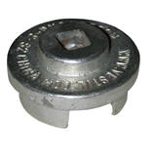 Vestil Drum Bung Socket - Bright Zinc Plated Cast Steel - 1/2 in. Drive