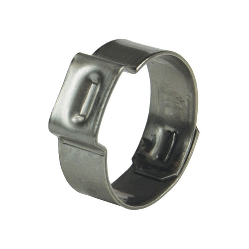Dixon 1 1/16 in. 304 Stainless Steel Pinch-On Single Ear Clamp - 100 QTY
