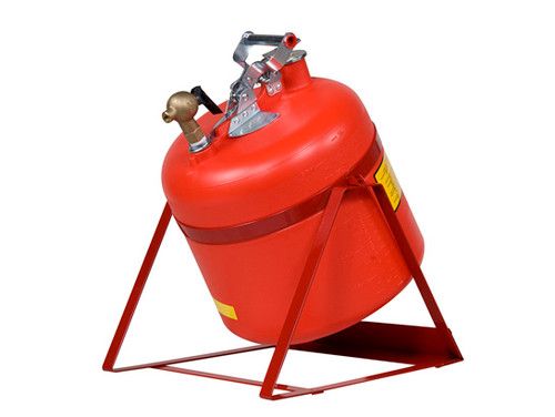 Justrite Nonmetallic Safety Cans For Laboratories - Tilt Can with 08540 Faucet - 5 Gallons - Red