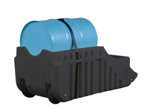Justrite 28665 EcoPolyBlend Spill Containment Caddy - Black