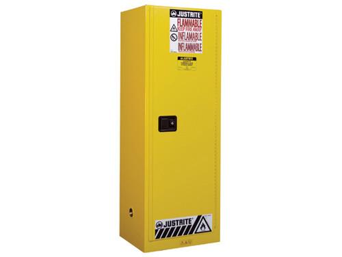 Justrite Slimline Style Sure-Grip® EX 22 Gallon Safety Cabinet - Manual Close