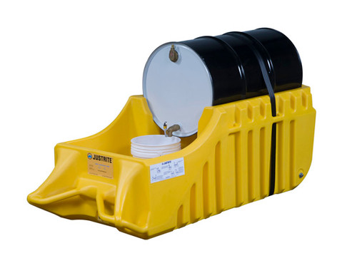 Justrite 28664 EcoPolyBlend Spill Containment Caddy - Yellow