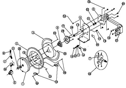 Coxreels PLP Series Parts - Spring Assembly - 1 - PLP140340