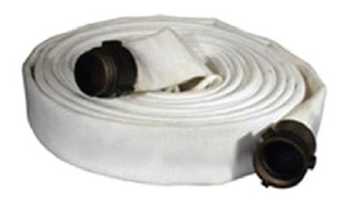 Dixon Powhatan 2 1/2 in. 500# Coupled UL Labeled Single Jacket Fire Hose w/ NH (NST) Combo Lug Brass Couplings