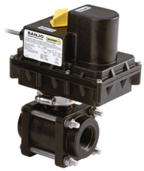 Banjo 1 in. Full Port Electric Ball Valve - 3/4 Second Response Time