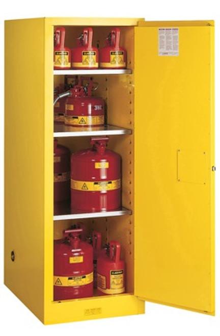 Justrite Slimline Style Sure-Grip® EX 54 Gallon Safety Cabinet - Manual Close