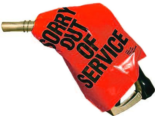 'Out of Service' Nozzle Cover (Red) - 12 Pack