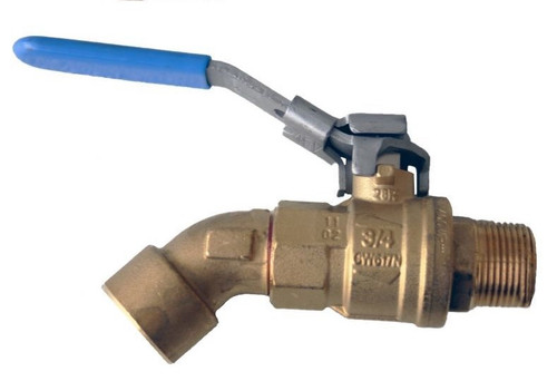 Morrison Bros. 1 in. M x 3/4 in. F Barrel Faucet Ball Valves - Angled
