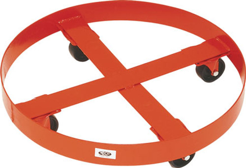MECO 30 Gallon Round Drum Dolly with Polyolefin Casters